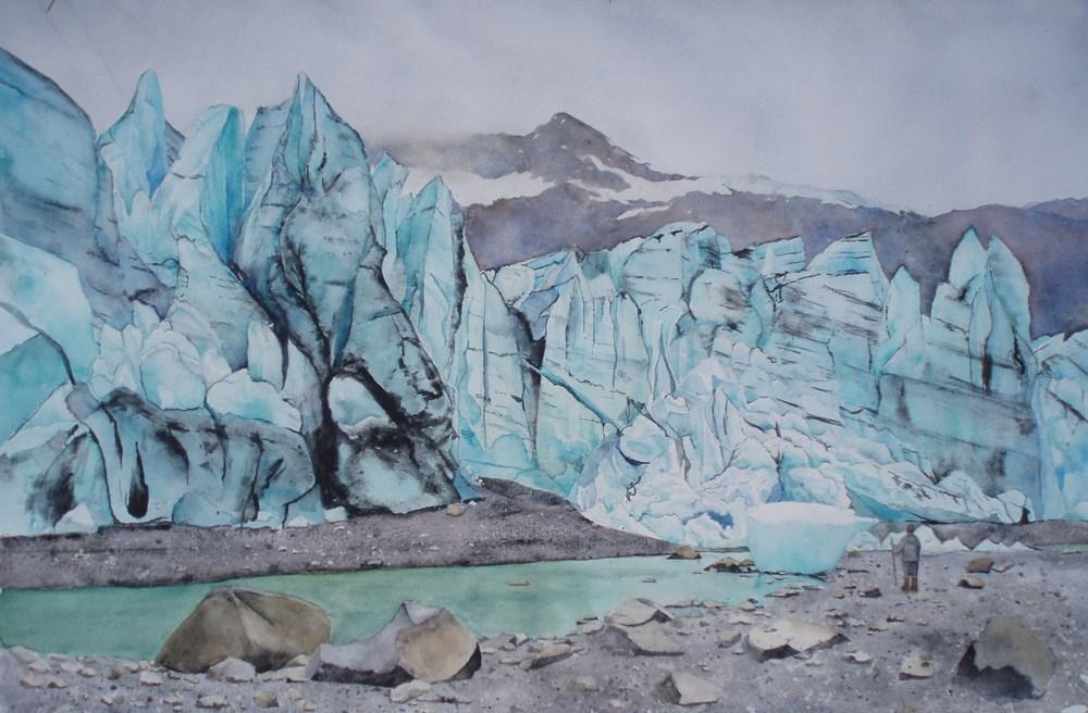 """""""Lamplugh Glacier #3"""" original fine art by Carole Baker"""