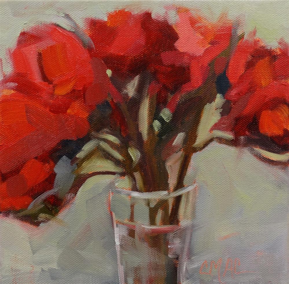 """""""Birthday Lilies"""" original fine art by Carolyn McDonald"""
