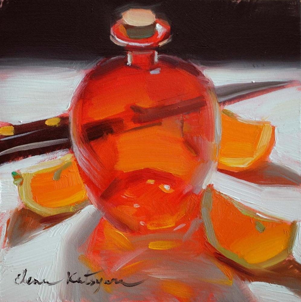 """""""Red Reflection"""" original fine art by Elena Katsyura"""