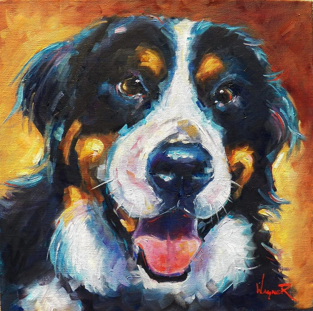 """BERNESE MOUNTAIN DOG - COMMISSION"" original fine art by Olga Wagner"