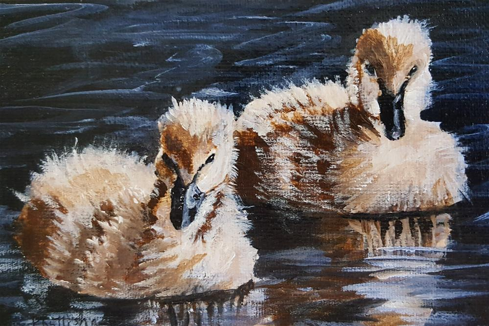 """Ducklings"" original fine art by Phyllisha Hamrick"