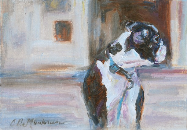 """Come Back Here"" original fine art by Carol DeMumbrum"