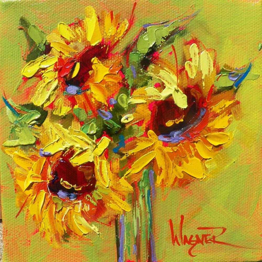 """""""Spring Meadow"""" original fine art by Olga Wagner"""