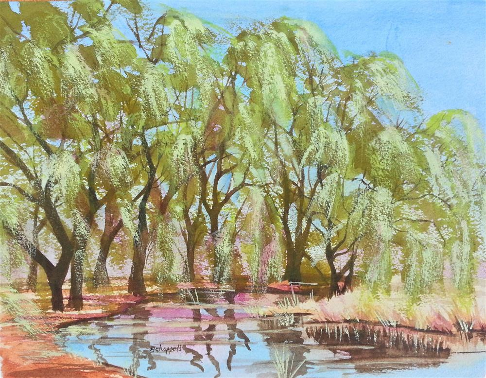 """Willows"" original fine art by Becky Chappell"