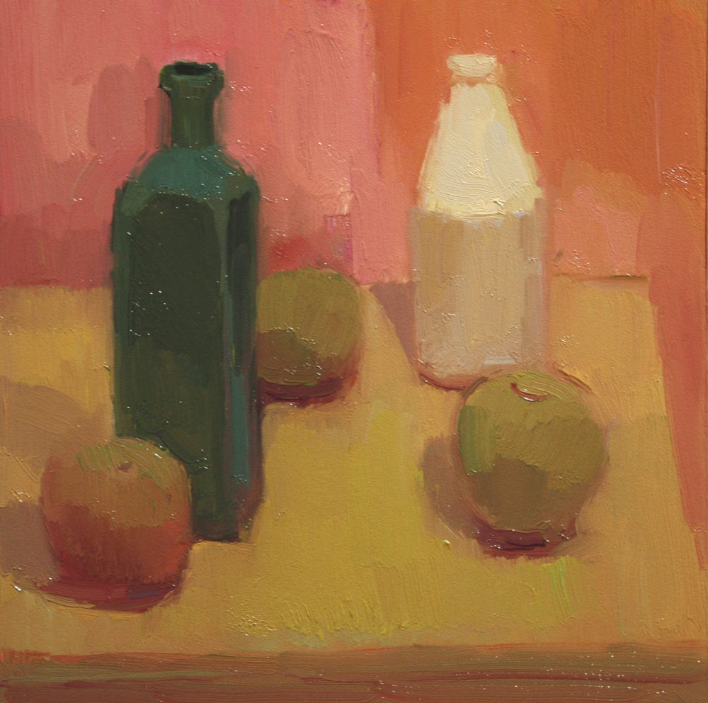 """Bottles Apart"" original fine art by Kathryn Townsend"