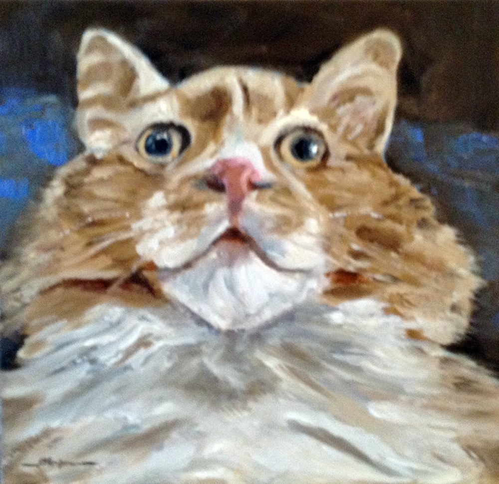"""Scaredy Cat"" original fine art by Shelley Koopmann"