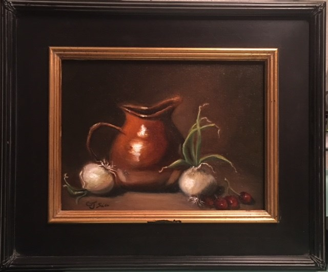 """Pitchers with Onions"" original fine art by Cheryl J Smith"