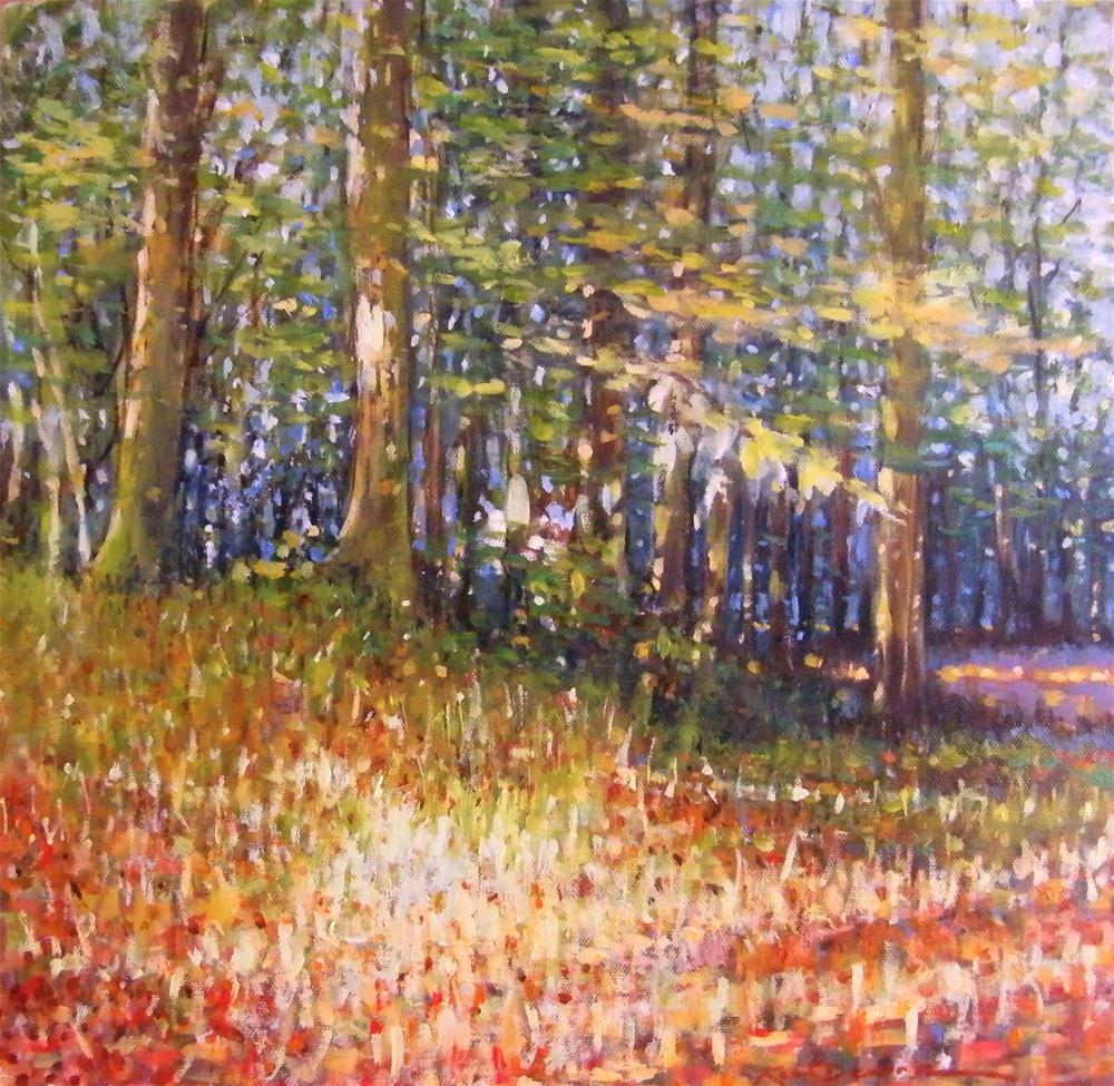 """Les Bois De  Chailloux Light is available at Trent Galleries"" original fine art by Ken Devine"