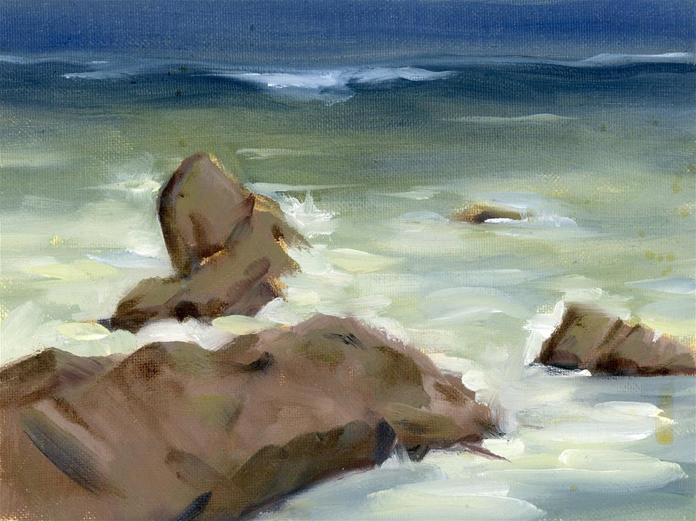 """Coastal Study II"" original fine art by Susanne Billings"