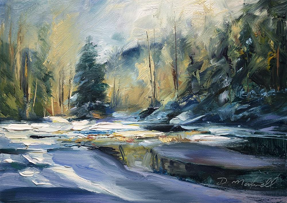 """Ice on Pond"" original fine art by Denise Maxwell"