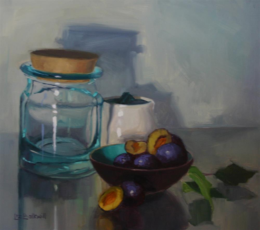 """Damsons in a Dish 2"" original fine art by Liz Balkwill"