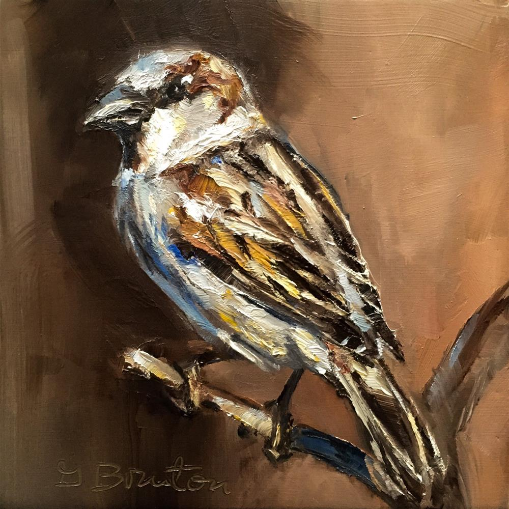 """House Sparrow"" original fine art by Gary Bruton"