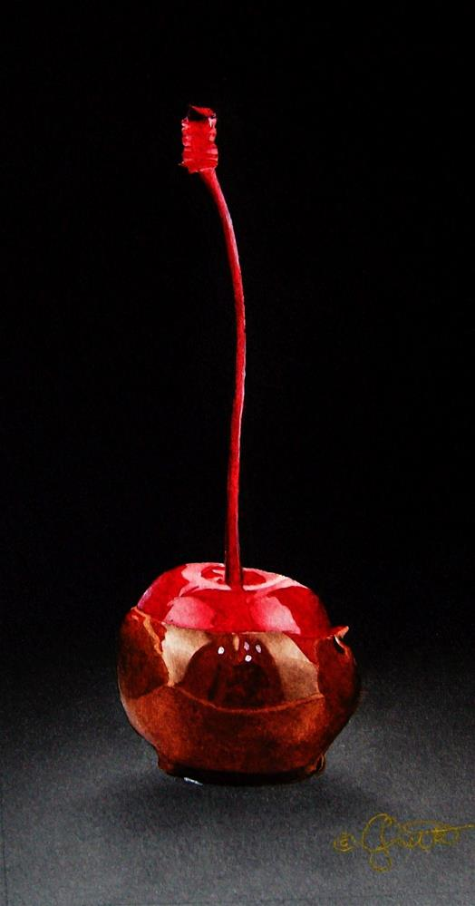 """Chocolate Covered Cherry"" original fine art by Jacqueline Gnott, whs"