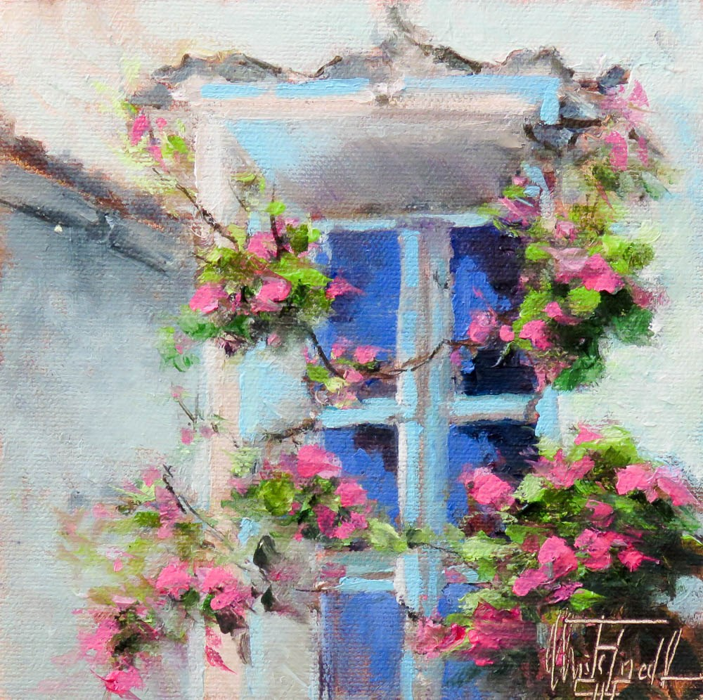 """The Turquoise Window"" original fine art by Christa Friedl"