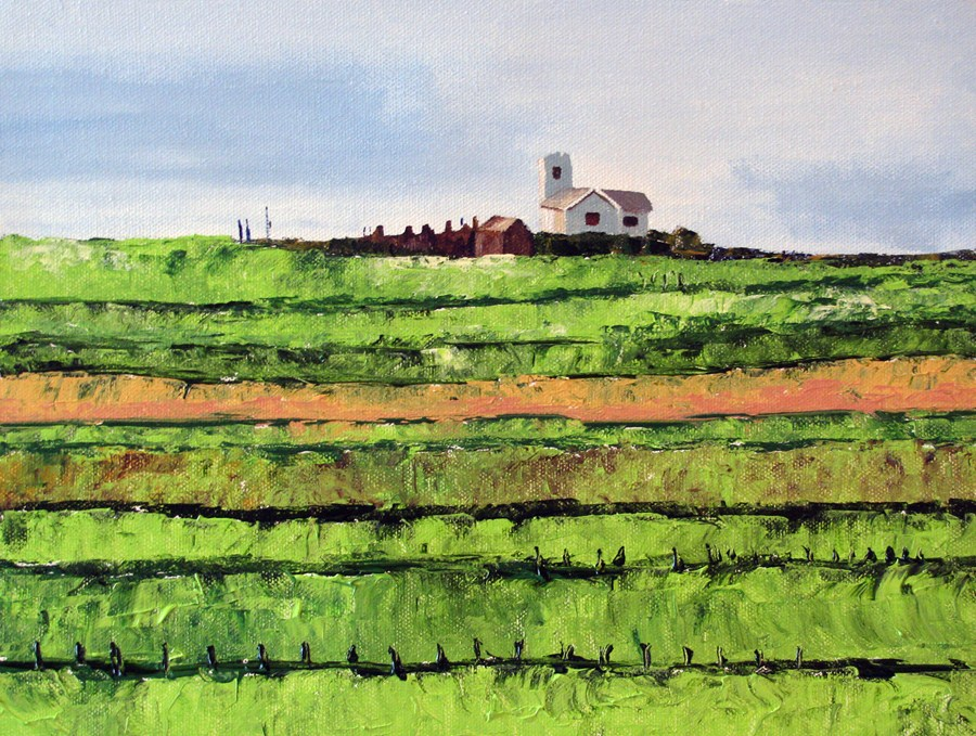 """Green Fields"" original fine art by Nan Johnson"
