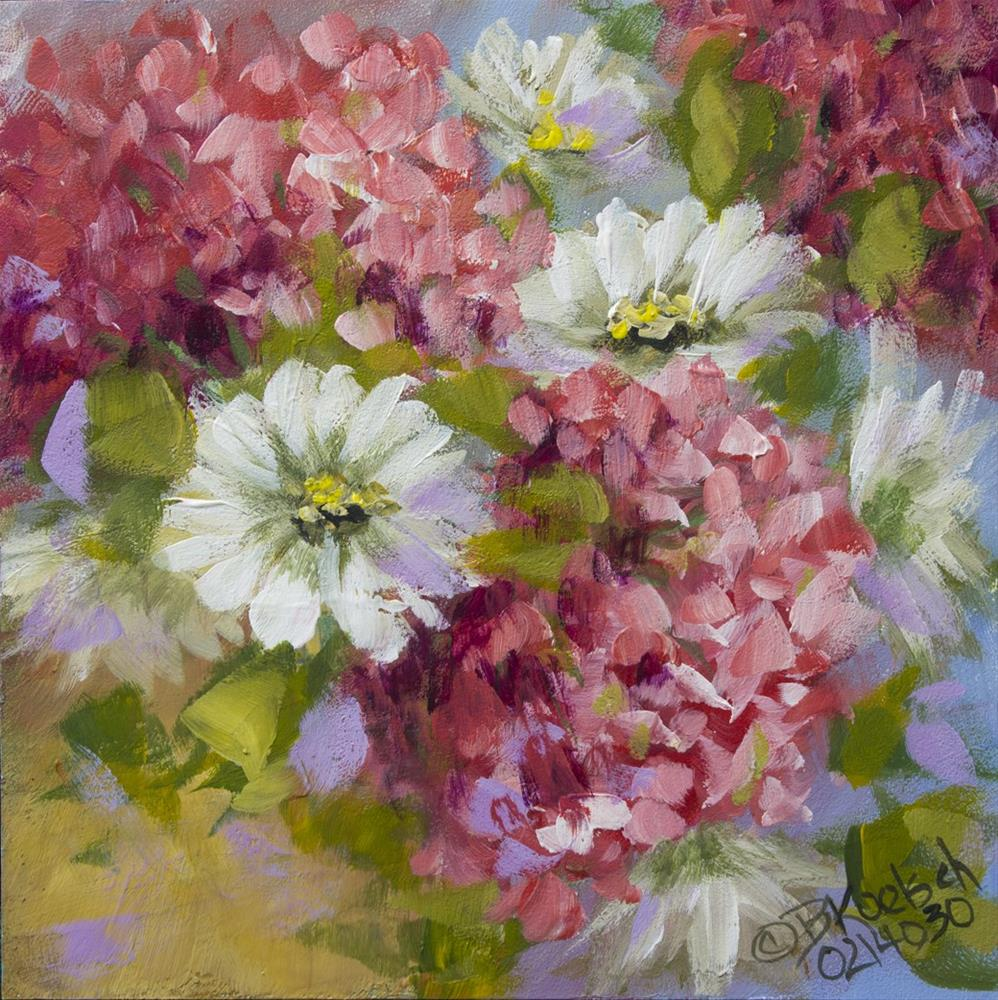 """Happy Geraniums"" original fine art by Bobbie Koelsch"