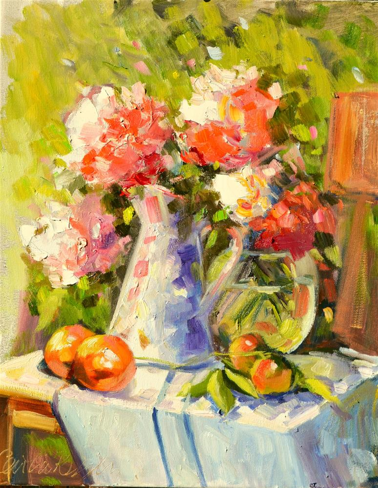 """""""FRENCH STILL LIFE"""" original fine art by Cecilia Rosslee"""