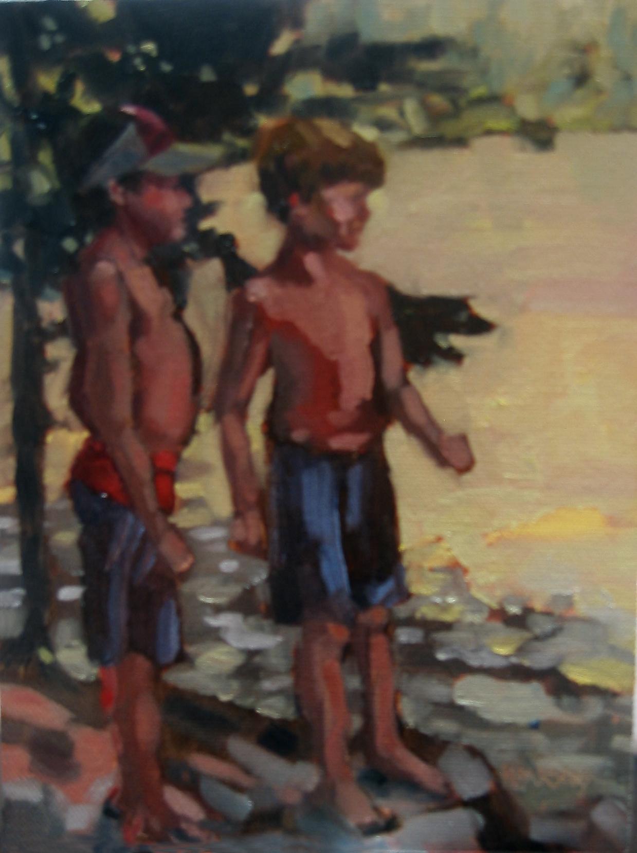 """""""Double Trouble"""" original fine art by Nancy Parsons"""