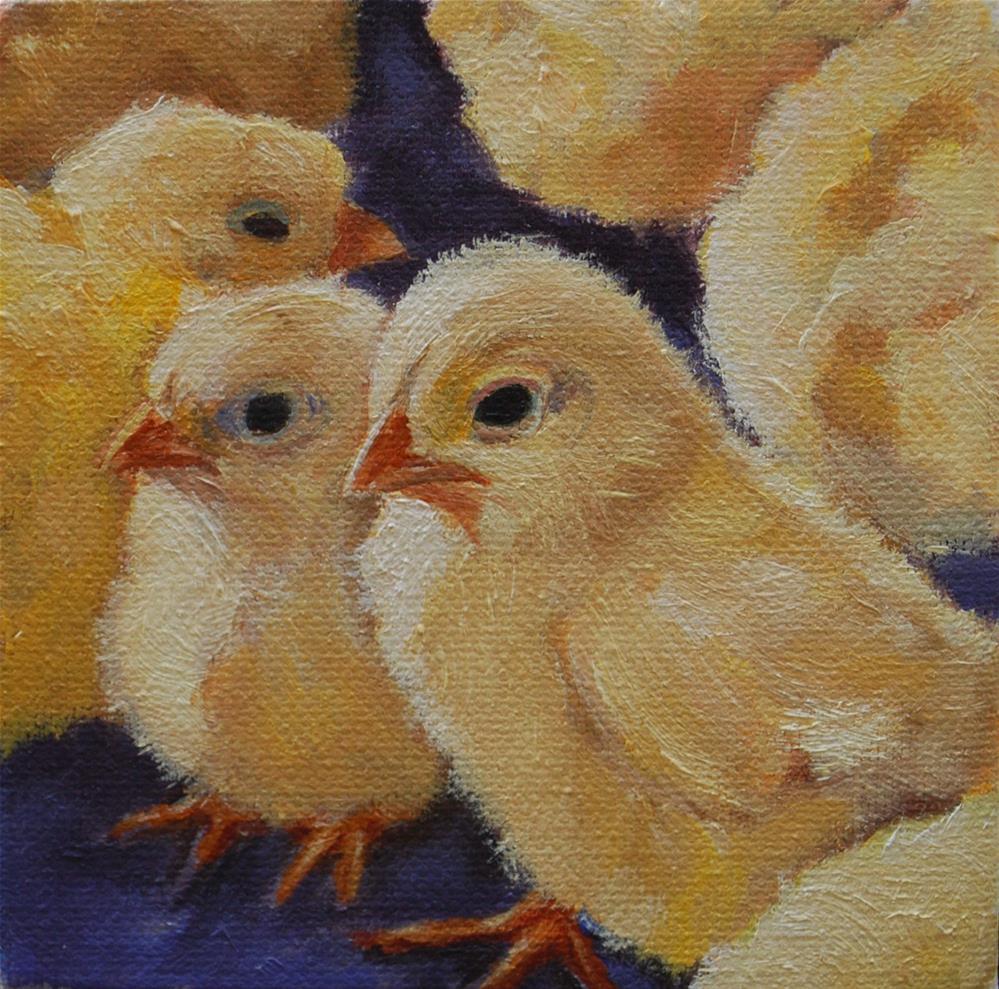 """Baby chicks"" original fine art by Beverley Phillips"