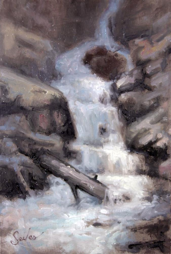 """Small Falls Studies Series2"" original fine art by Larry Seiler"