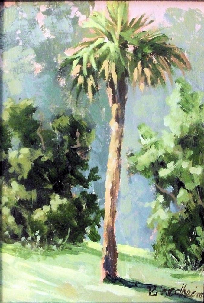 """Palm"" original fine art by Linda Blondheim"