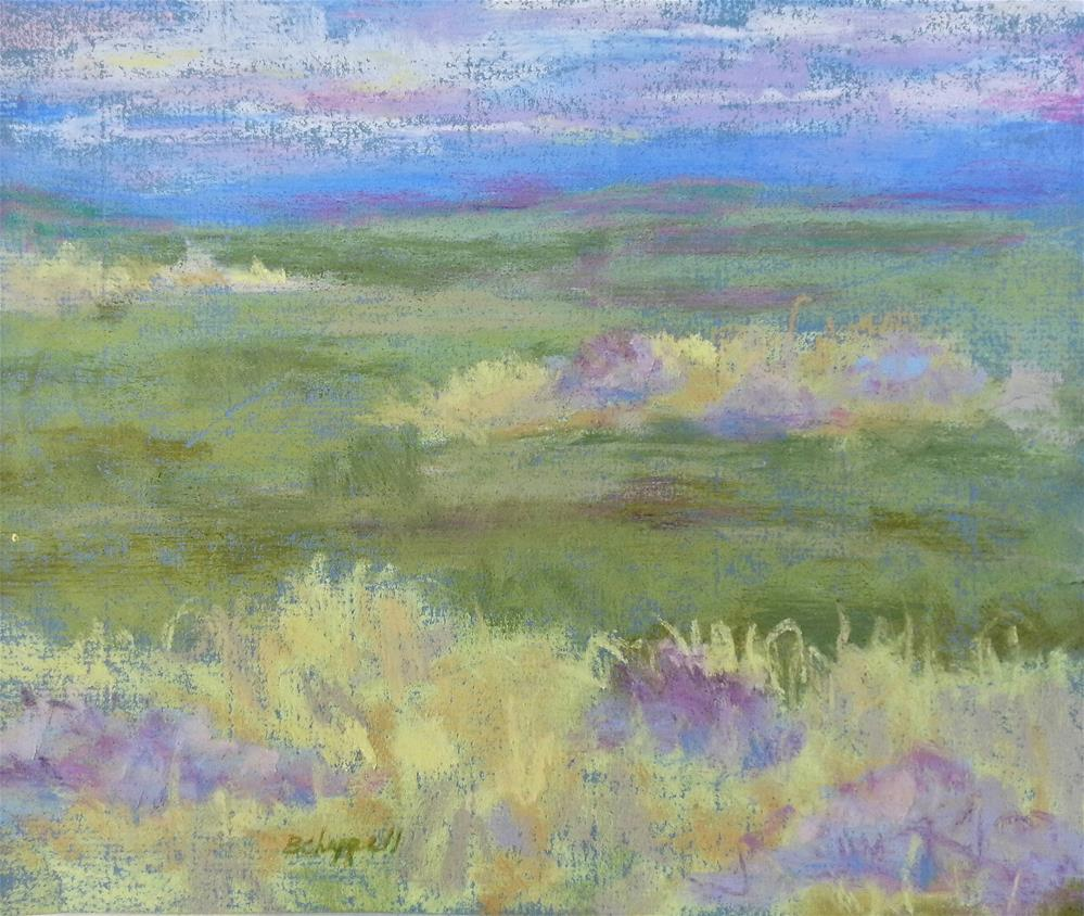 """Lavender and Wheat"" original fine art by Becky Chappell"