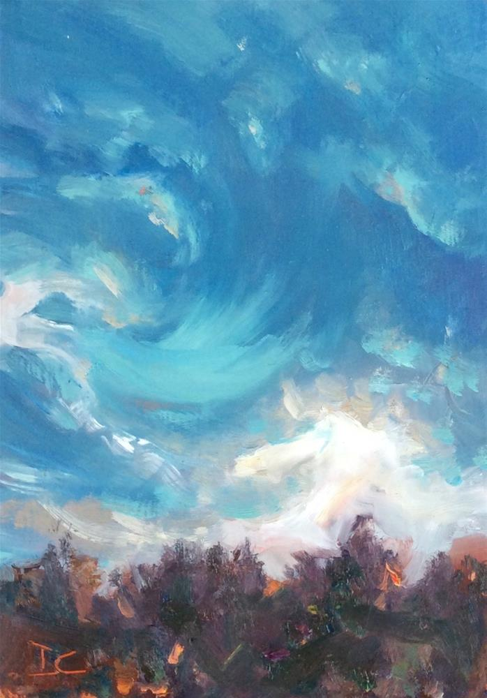 """WINDY"" original fine art by Doug Carter"