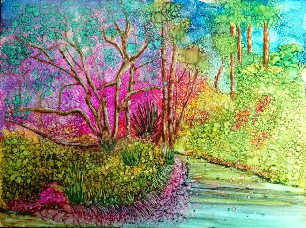 """Garden path"" original fine art by Korinne Carpino"