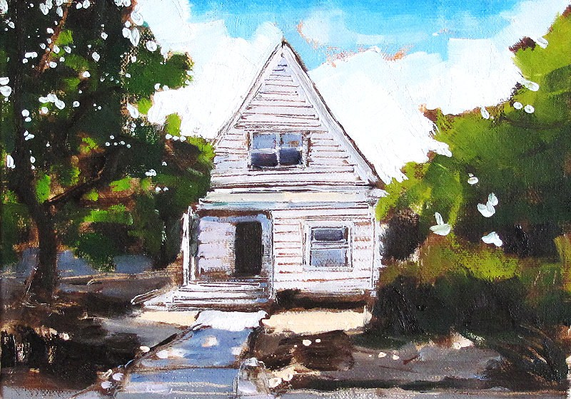 """Craftsman House- Painting of San Diego"" original fine art by Kevin Inman"
