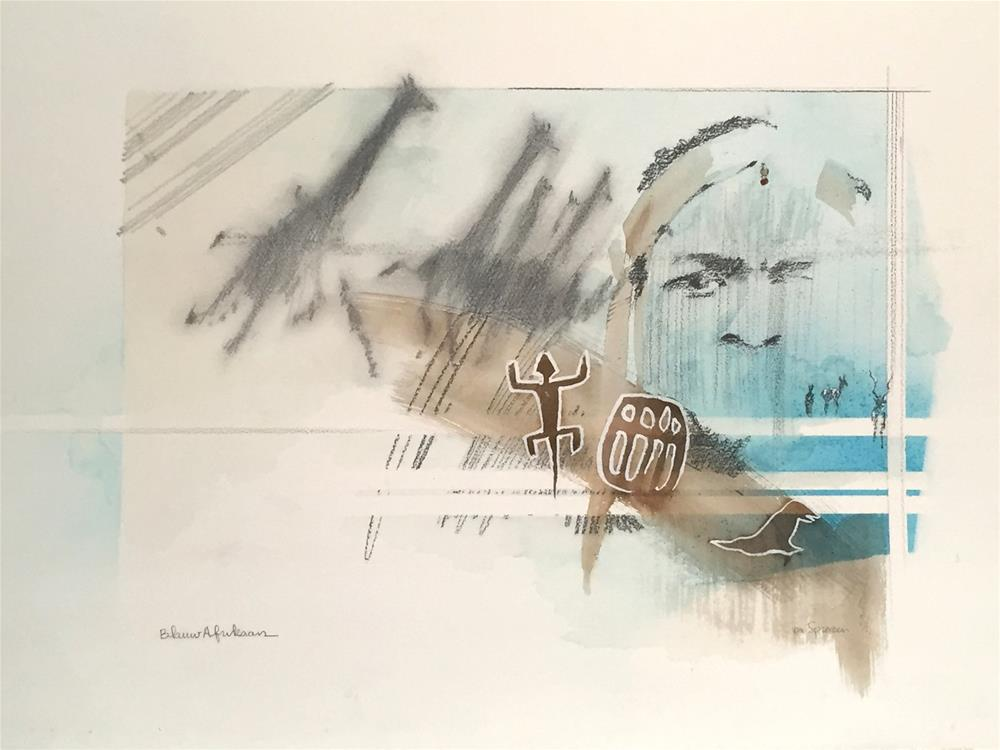 """Blauwe Afrikaan"" original fine art by Cornelis vanSpronsen"