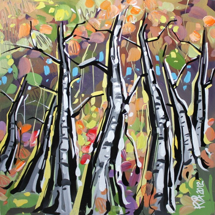 """Birch abstraction 3"" original fine art by Roger Akesson"