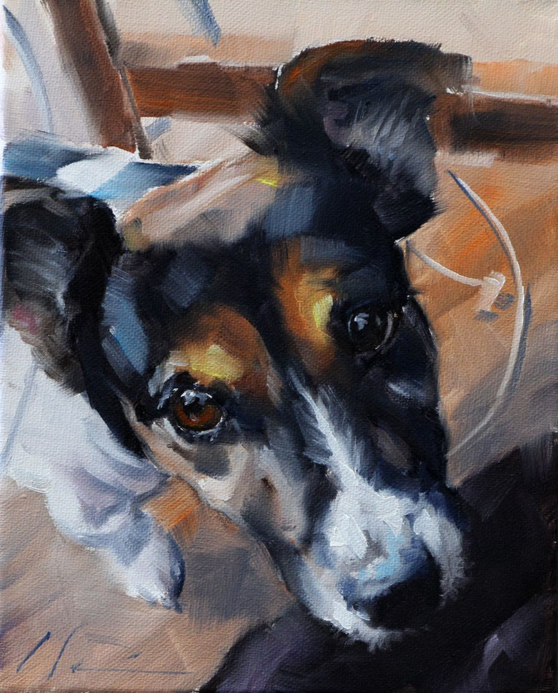 """The Daily Dog - Thirteen"" original fine art by Clair Hartmann"
