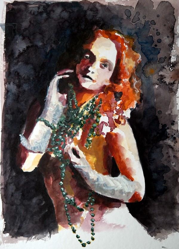 """""""1213 Fashionable Red"""" original fine art by Dietmar Stiller"""