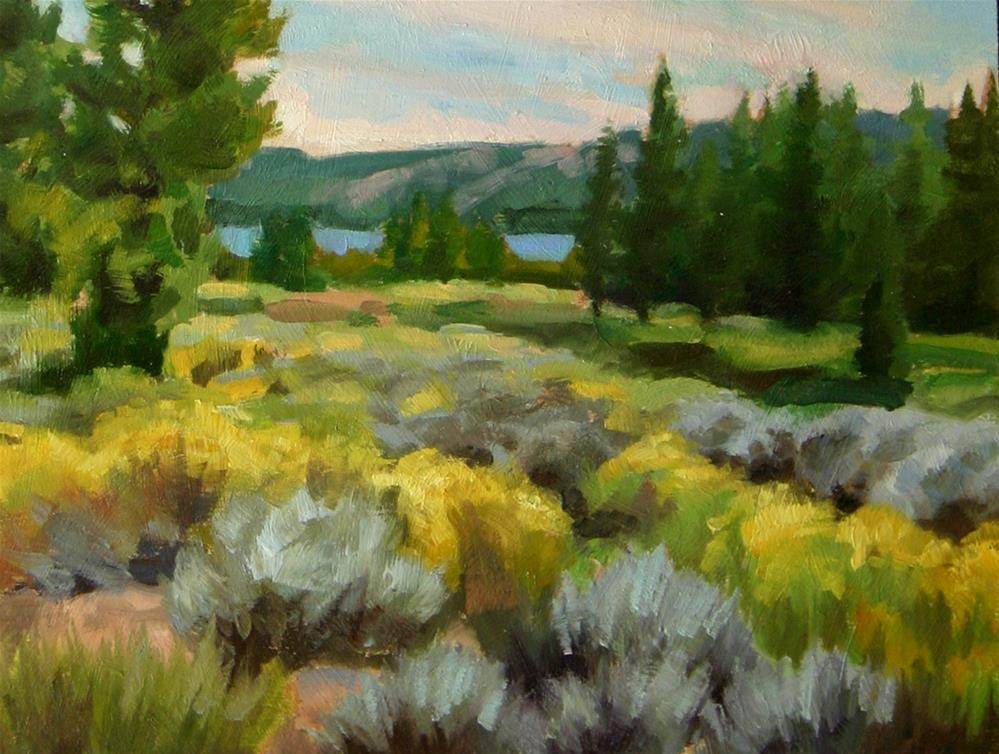 """Sage brush and Trees"" original fine art by K.R. McCain"