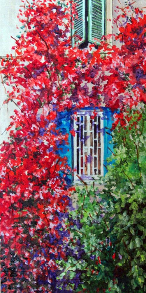"""Roman Windows"" original fine art by Nan Johnson"