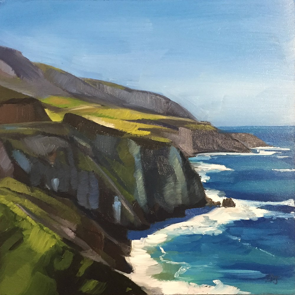 """The Cliffs"" original fine art by Elizabeth Dawn Johnston"