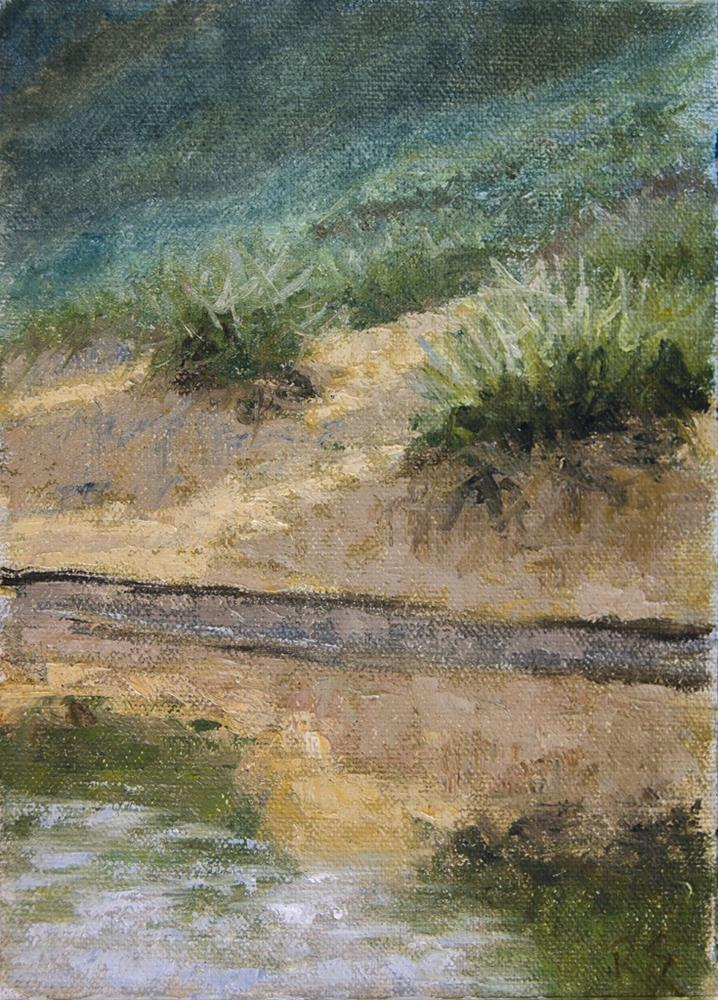 """Dunes and Reflections"" original fine art by Rachel Steely"