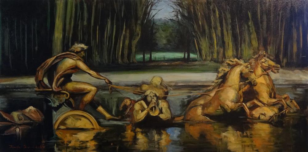 """Fountain at Versailles"" original fine art by Jonelle Summerfield"