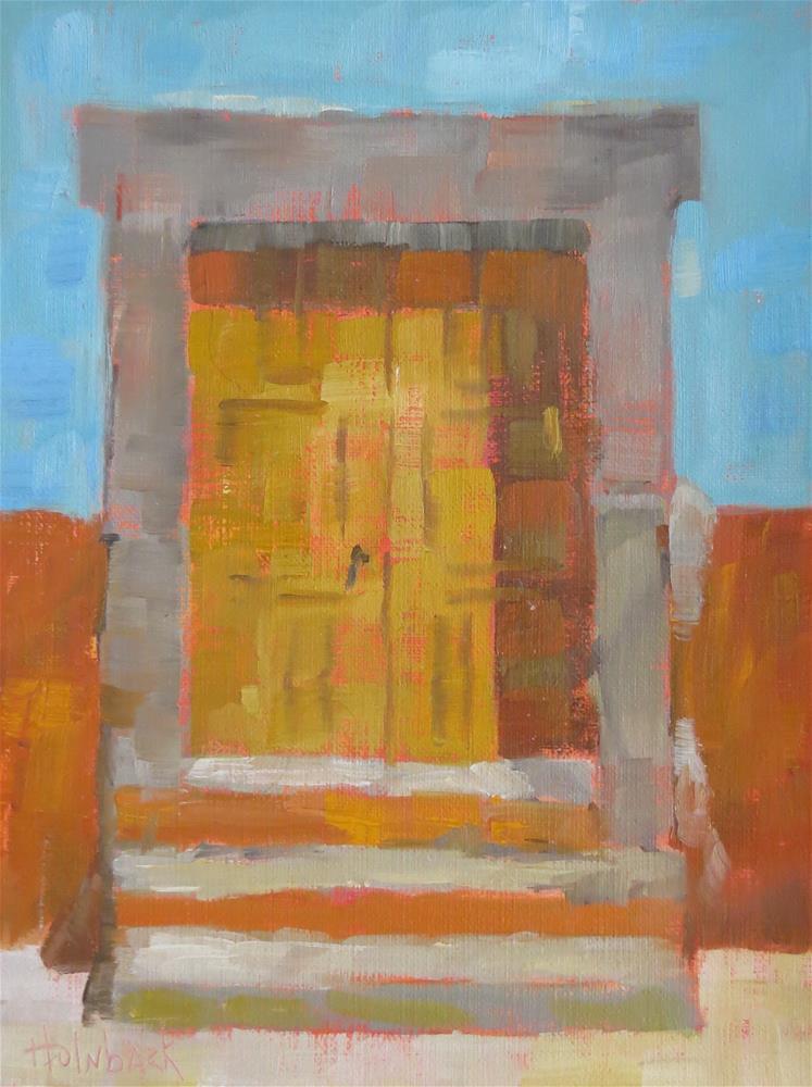 """Puerta Numero Dos"" original fine art by Pam Holnback"
