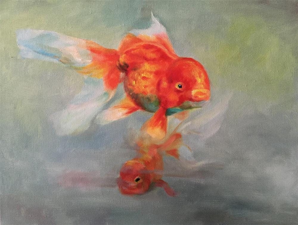 """fish"" original fine art by Joy Cai"