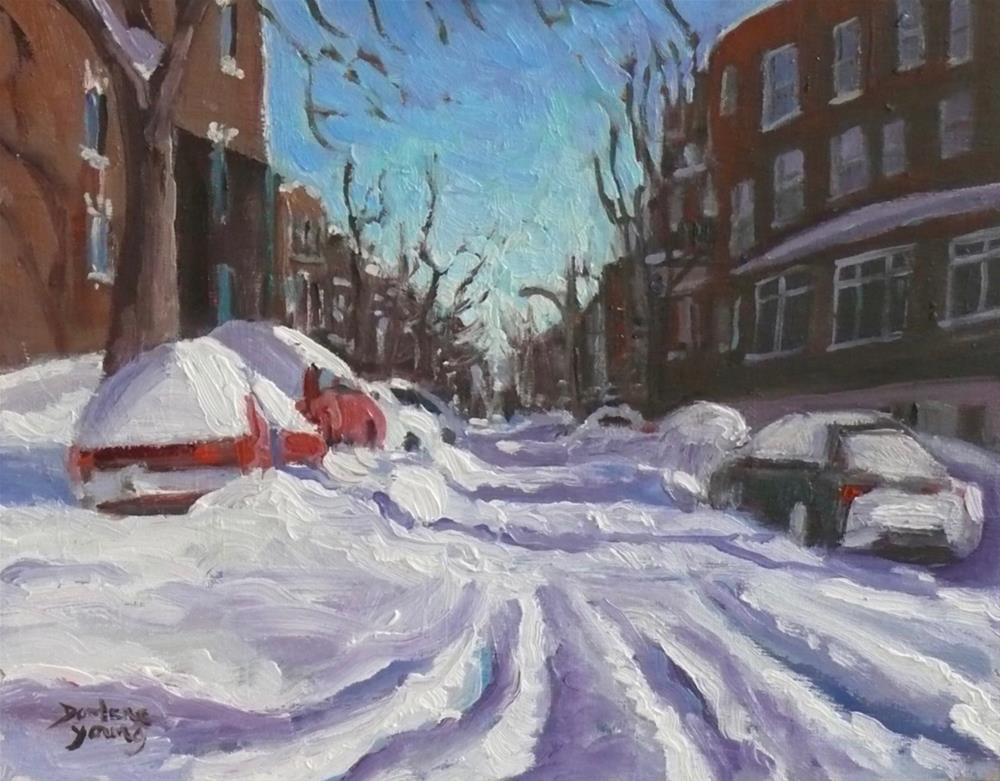 """914 Montreal Winter Scene, 8x10, oil on board"" original fine art by Darlene Young"