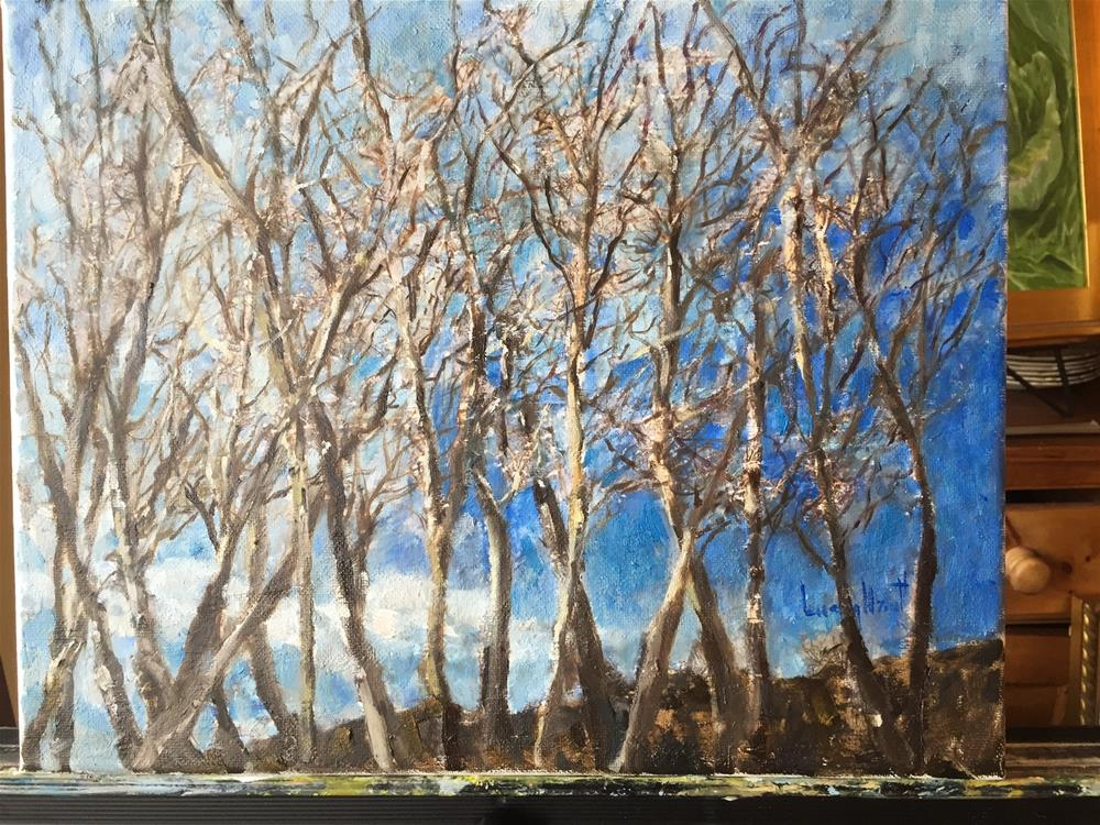 """Winter Branches"" original fine art by Lucy Hammett"