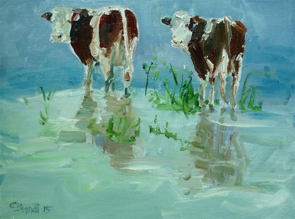 """""""Footbath"""" original fine art by Claudia Brandt"""