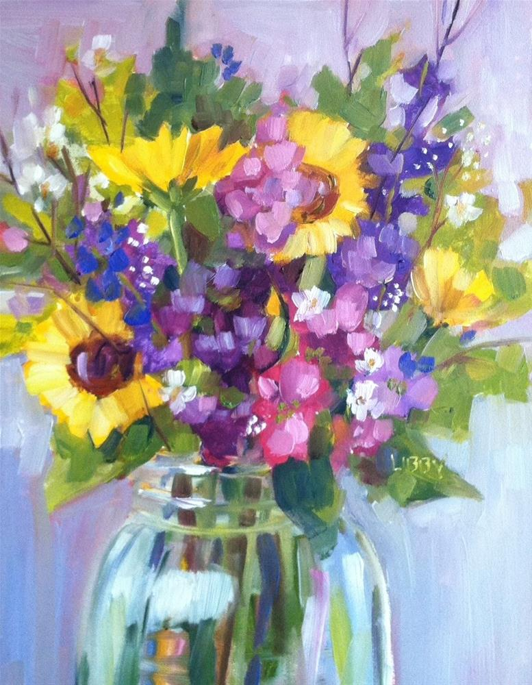 """Flower Explosion"" original fine art by Libby Anderson"