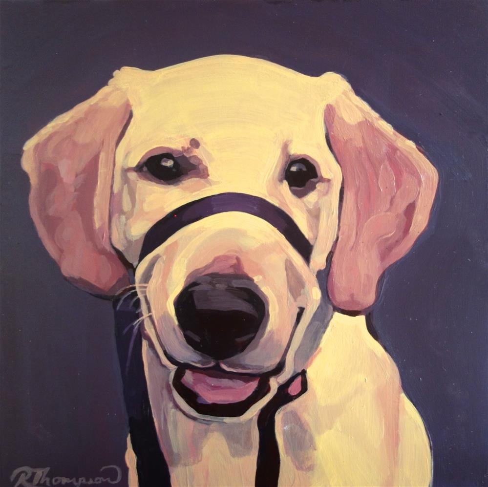 """Libby - Reserved"" original fine art by Rachel Thompson"