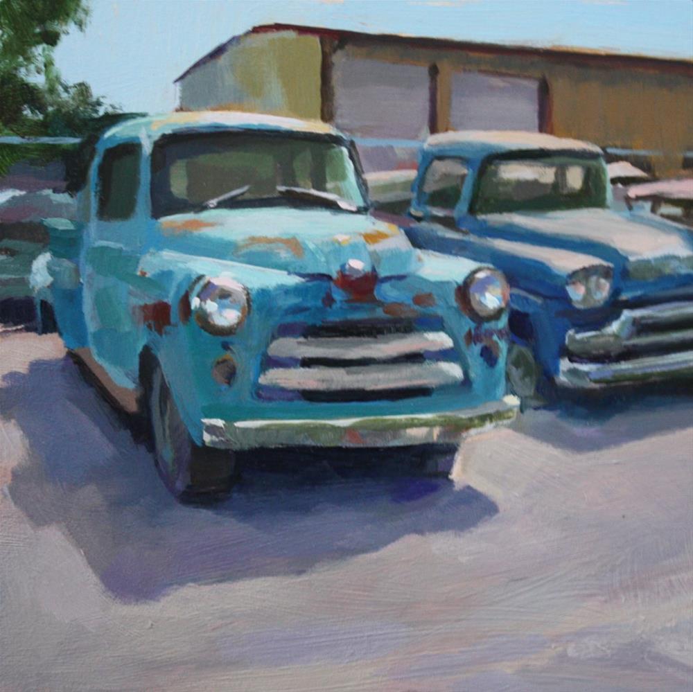 """""""Long Term Parking"""" original fine art by Kaethe Bealer"""