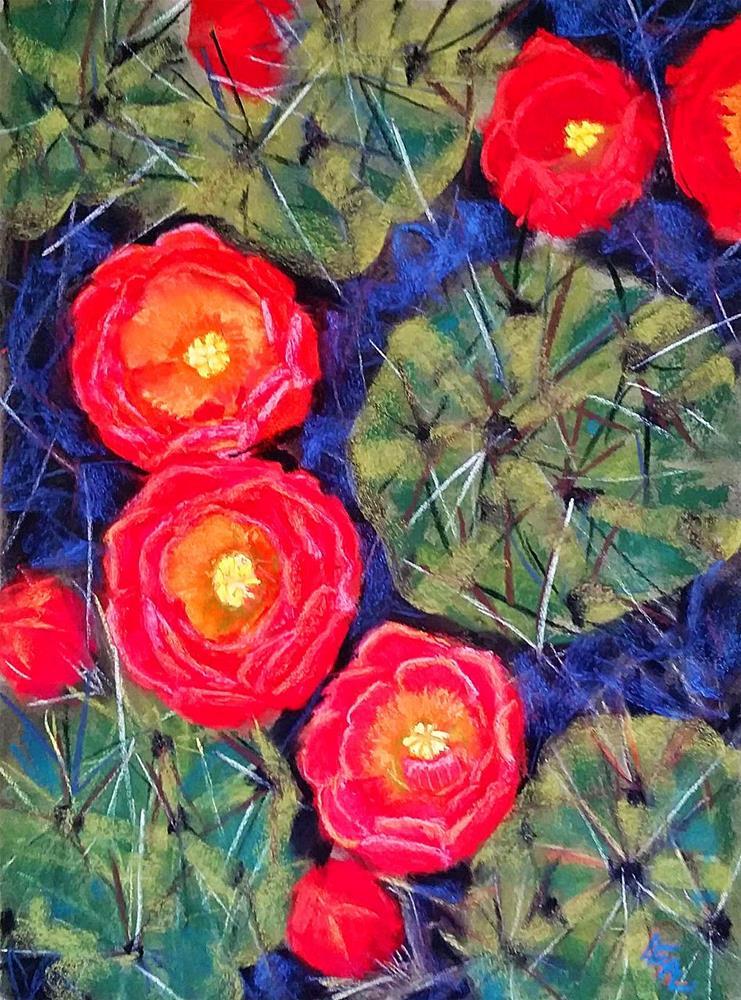 """Floral Demitasse"" original fine art by Anna Lisa Leal"