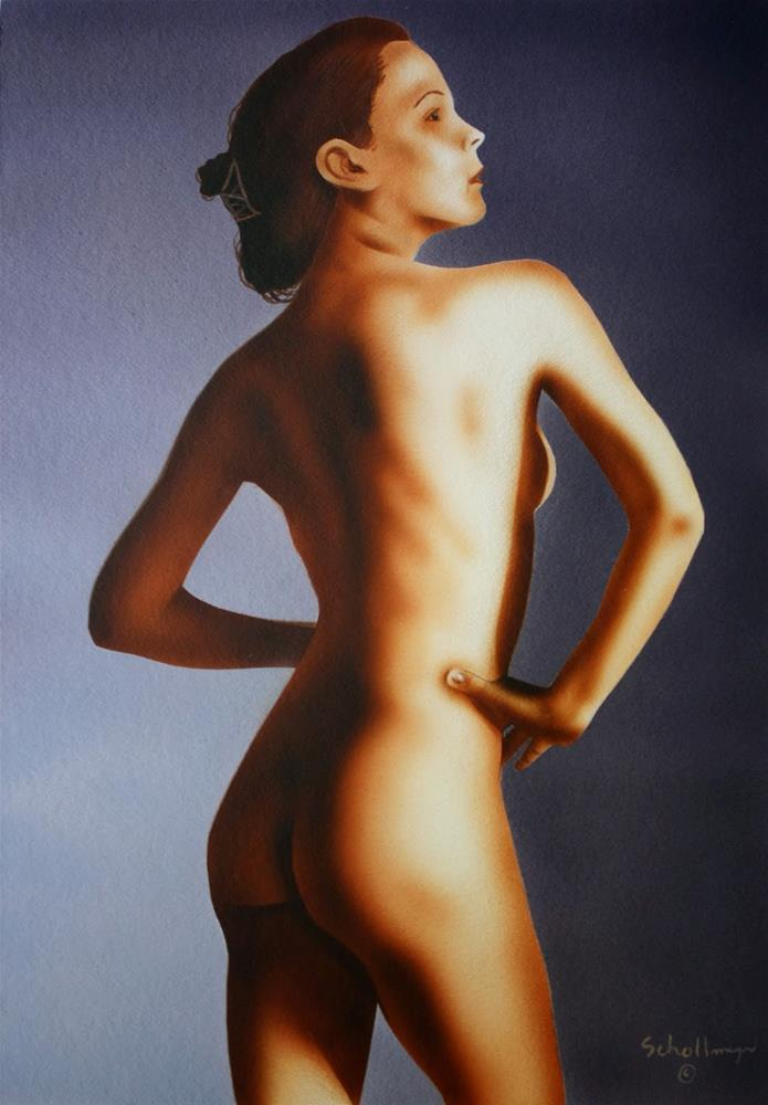"""Nude Study # 6"" original fine art by Fred Schollmeyer"