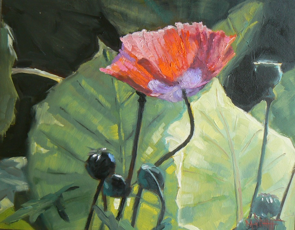 """PRINCESS DIANA'S GARDEN, 8X10, Original Oil, Canvas on Board"" original fine art by Carol Schiff"