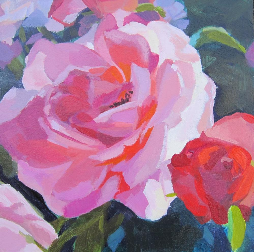 """Roses"" original fine art by Kaethe Bealer"
